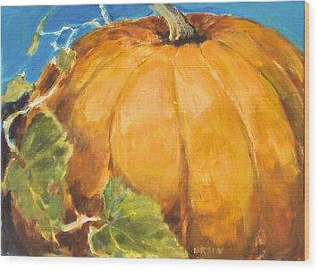 Gigantic Pumpkin Wood Print