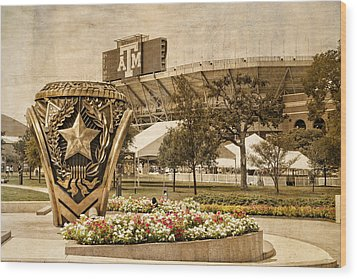 Gig'em Wood Print by Dave Files
