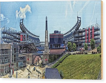 Gillette Stadium  Home Of The New England Patriots Wood Print