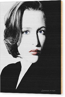 Gillian Anderson Wood Print