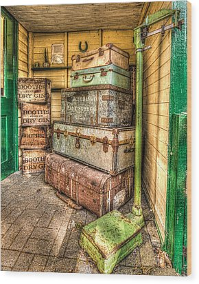 Gin And Baggage Wood Print
