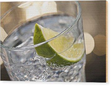Gin Tonic Cocktail Wood Print