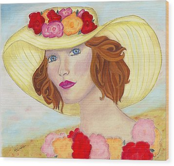 Wood Print featuring the painting Ginger by Arlene Crafton
