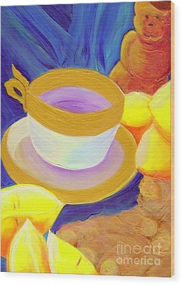 Ginger Lemon Tea By Jrr Wood Print by First Star Art