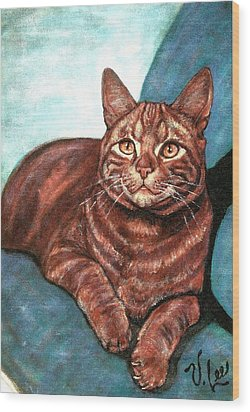 Ginger Tabby Wood Print