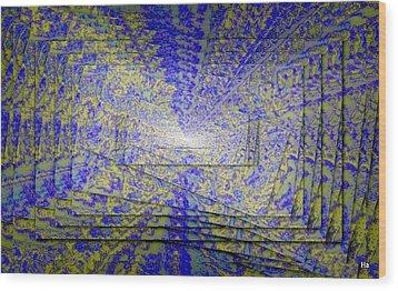 Gioco Coliori Wood Print by Halina Nechyporuk