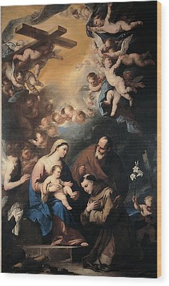 Giordano Luca, Holy Family Venerated Wood Print by Everett