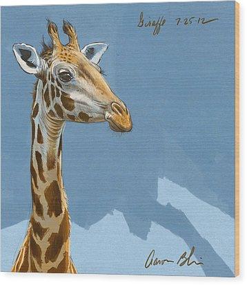 Giraffe Wood Print by Aaron Blaise