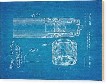 Girardy Railway Observation Car Patent Art  3 1951 Blueprint Wood Print by Ian Monk