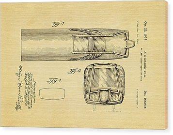 Girardy Railway Observation Car Patent Art  3 1951 Wood Print by Ian Monk