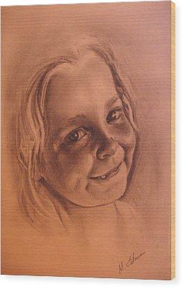 Girl From Neighbourhood Arisha Wood Print