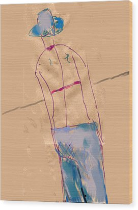 Girl From The Back Wood Print by Margie Lee