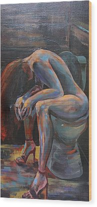 Girl In A Glass #10 Wood Print by Susi LaForsch