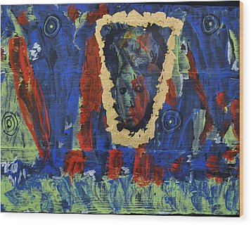 Girl In The Mirror Wood Print by Brenda Chapman