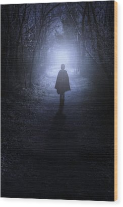 Girl In The Woods Wood Print by Joana Kruse