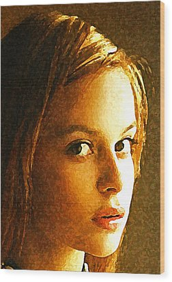 Girl Sans Wood Print by Richard Thomas