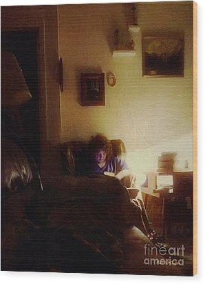 Girl With A Book Wood Print by RC deWinter