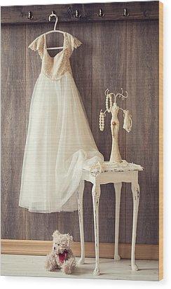Girl's Bedroom Wood Print by Amanda Elwell