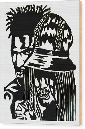 Give Me Strength Wood Print by Patrick Carrington