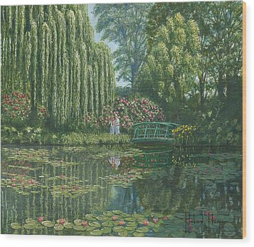 Giverny Reflections Wood Print by Richard Harpum