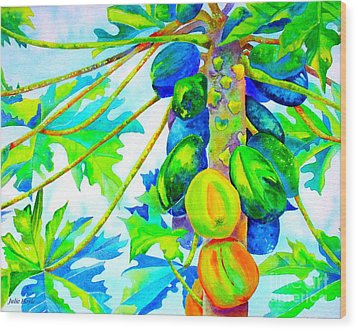 Wood Print featuring the painting Abundant Blessings by Julie  Hoyle