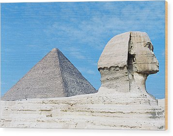 Wood Print featuring the photograph Giza by Cassandra Buckley