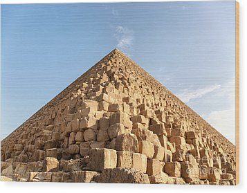 Giza Pyramid Detail Wood Print by Jane Rix