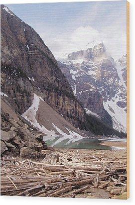 Glacial Debris Wood Print by Jenny Hudson