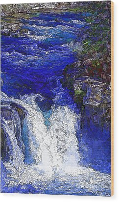 Glacial Flow-2 Wood Print by Nancy Marie Ricketts
