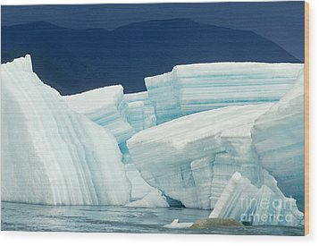 Glacial Ice Wood Print by Art Wolfe
