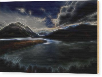Wood Print featuring the digital art Glacial Light 1 by William Horden