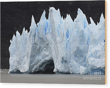 Glaciar Grey Patagonia Chile 3 Wood Print by Bob Christopher
