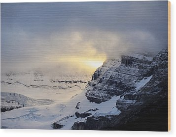 Glacier Above Lake Louise Alberta Canada Wood Print