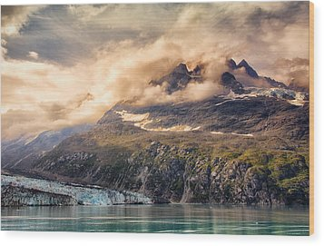 Wood Print featuring the photograph Glacier And Peaks-glacier Bay National Park by Janis Knight