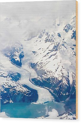 Glacier Bay Wood Print