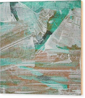 Wood Print featuring the painting Glacier C2013 by Paul Ashby