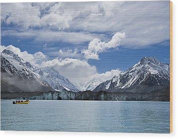 Glacier Explorers Wood Print by Ng Hock How