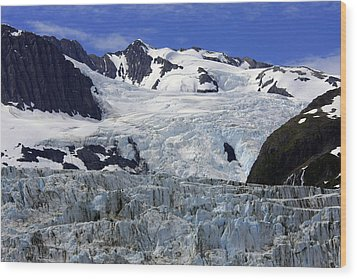 Glacier From Up High Wood Print