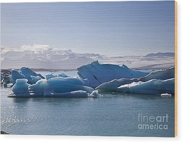 Glacier In Iceland Wood Print