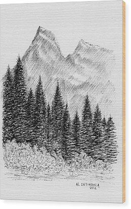 Glacier Nat. Park Wood Print