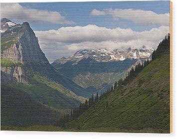 Glacier National Park Wood Print by John Shaw
