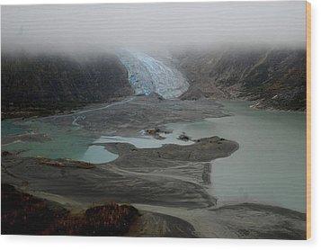 Glacier North Of Juneau Wood Print by Sarah King