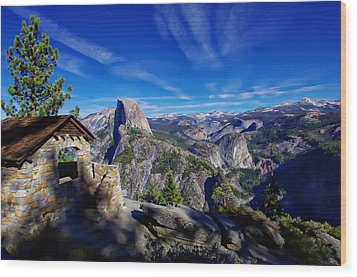 Glacier Point Yosemite National Park Wood Print by Scott McGuire
