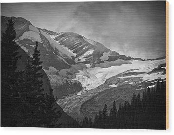 Glacier Wood Print by Stuart Deacon
