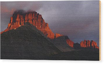 Glacier Sunrise Wood Print