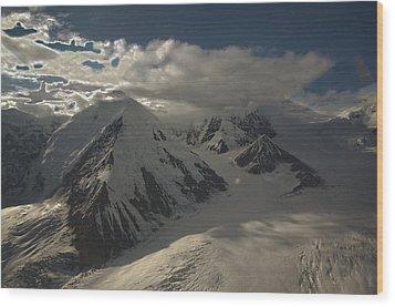 Glaciers Galore Wood Print by David Kehrli