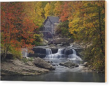 Glade Creek Grist Mill 2 Wood Print