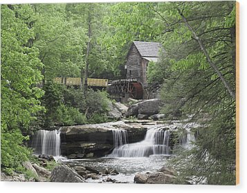 Wood Print featuring the photograph Glade Creek Grist Mill by Robert Camp