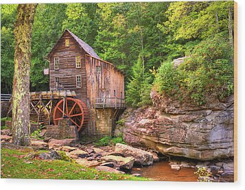 Glade Creek Mill  Wood Print by Gregory Ballos