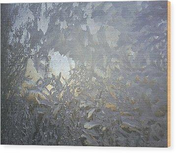 Gladiolas In Ice Wood Print by Jaime Neo